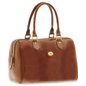 Borsa Donna a Bauletto THE BRIDGE in Pelle Marrone linea Story