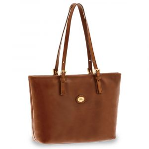 Borsa Shopper Due Manici a Spalla The Bridge in Pelle Marrone linea Story