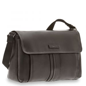Cartella Messenger Uomo Porta Tablet THE BRIDGE in Pelle Nera linea Cosimo