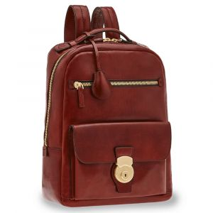 "Zaino Porta Pc 14"" e Tablet THE BRIDGE in Pelle Bordeaux linea Capalbio"