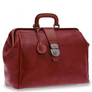 "Borsa Medico con Porta Pc 14"" THE BRIDGE in Pelle Martellata Bordeaux linea Capalbio Made in Italy"