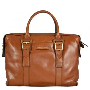 "Cartella Due Manici Porta Pc 15"" THE BRIDGE in Pelle Color Cognac linea Giannutri"