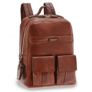 "Zaino Uomo Porta Pc 14"" THE BRIDGE in Pelle Marrone linea Serristori"