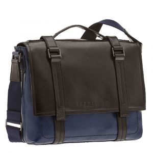 "Cartella Porta Pc 13"" THE BRIDGE in Pelle Blu linea Vacchereccia"