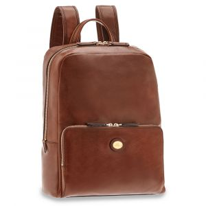 "Zaino Porta Pc 13"" THE BRIDGE in Pelle Marrone linea Story Uomo"