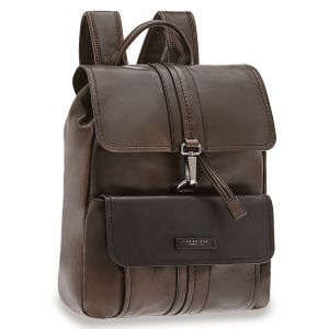 Zaino Uomo Porta Pc con Pattina THE BRIDGE in Pelle Marrone Scuro linea Cosimo