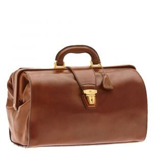 Borsa Medico THE BRIDGE in Pelle Marrone linea Today Business Made in Italy