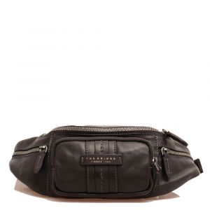 Marsupio Uomo THE BRIDGE in Pelle Nera linea Cosimo Made in Italy