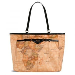 Borsa Donna Shopping 1A Classe Alviero Martini linea Geo Soft Liberty colore Geo Classic e Nero GP57