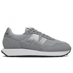 Scarpe Donna NEW BALANCE Sneakers 237 in Suede e Mesh colore Grey Metallic