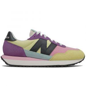 Scarpe Donna NEW BALANCE Sneakers 237 in Suede e Mesh colore  Lemon con Sour Grape