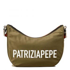 Borsa Donna a Tracolla PATRIZIA PEPE in Tessuto - 2V9892 Colore Industrial Green
