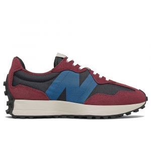 Scarpe Donna NEW BALANCE Sneakers 327 in Suede e Mesh colore Burgundy e Blu