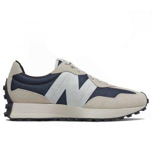 Scarpe Uomo NEW BALANCE Sneakers 327 in Suede e Mesh colore Outerspace con Light Grey