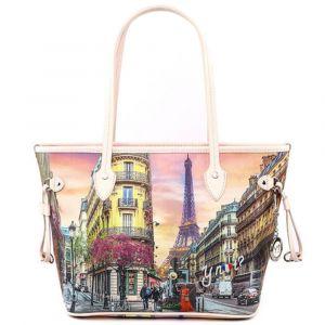 Borsa Donna Y NOT Shopping Media a Spalla YES-336 Paris Spring