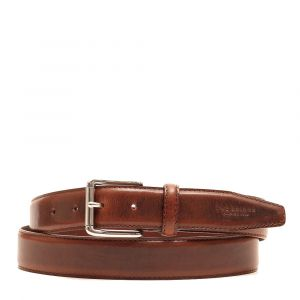 Cintura Uomo in Pelle Marrone THE BRIDGE h 3,5 cm 110cm linea Passpartout Made in Italy