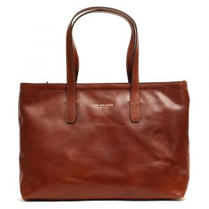 Borsa Donna Shopper Foderata The Bridge in Pelle Marrone linea Story