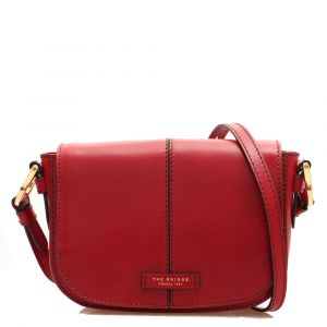Borsa Donna a Tracolla Media THE BRIDGE in Pelle Rossa linea Faentina