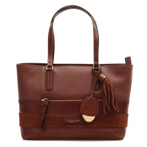 Borsa Donna Shopper a Spalla con Tracolla THE BRIDGE in Pelle Marrone linea Ognissanti