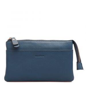 Pochette Donna a Tracolla GIANNI CONTI in Pelle Liscia Blue Magic