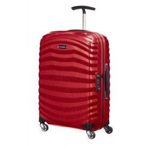 Trolley Cabina 55cm 4 Ruote Rigido Leggero 1,6kg Samsonite Lite-Shock Red