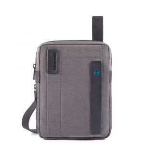 Borsello Uomo PIQUADRO a Tracolla Espandibile con porta iPadmini - CA3228P16 in Tessuto Classy