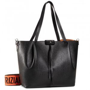 Borsa Donna in Pelle PATRIZIA PEPE Shopping a Spalla con Tracolla 2V9829 Nero