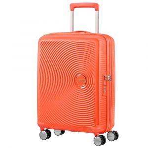 Trolley Cabina 55cm 4 Ruote Leggero 2,6kg Espandibile - American Tourister Soundbox Spicy Peach