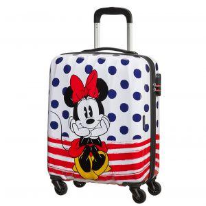 Trolley Cabina 55cm 4 Ruote Leggero 2,6kg - American Tourister Disney Minnie Blue Dots