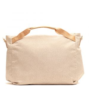 Borsa Donna a Mano Large BORBONESE in Tessuto linea Jet Op Colore Beige