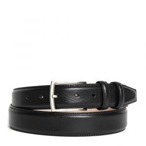 Cintura Uomo in Pelle Nera 3,5cm - Made in Italy