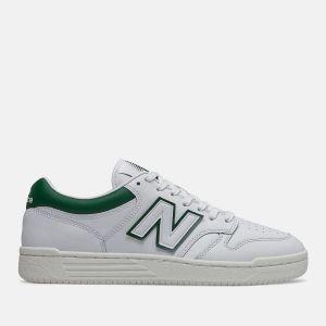 Scarpe Uomo NEW BALANCE Sneakers 480 in Pelle colore White e Timberwolf