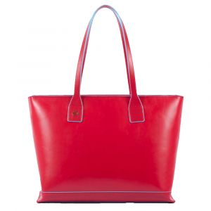 Borsa Donna PIQUADRO linea Blue Square Shopping Bag in Pelle Rossa con Porta iPad Mini BD3336B2/R6