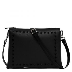 Borsa Donna a Tracolla GUM Two linea Satin Stud colore Nero Mat