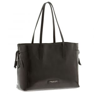 Borsa Shopper Grande a Spalla The Bridge in Pelle Nera linea Passpartout