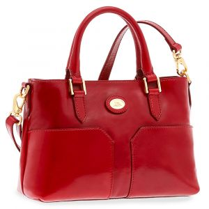 Borsa Donna a Mano THE BRIDGE in Pelle Rossa linea Story
