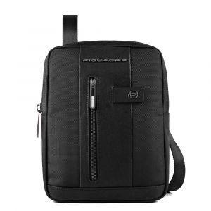 Borsello Organizzato Piquadro in Tessuto e Pelle di Colore Nero Porta iPad  -  CA1816B2 Linea Brief 2