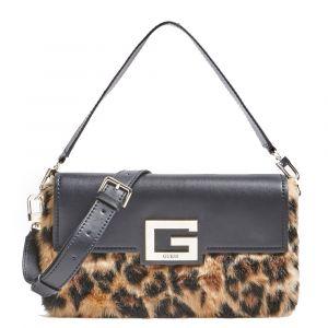 Borsa Donna a Spalla GUESS Modello Brightside colore Leopard