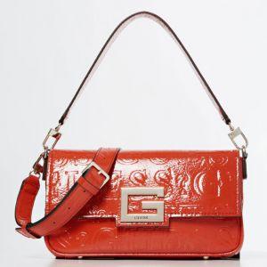 Borsa Donna a Spalla con Logo Impresso GUESS Modello Brightside colore Rosso