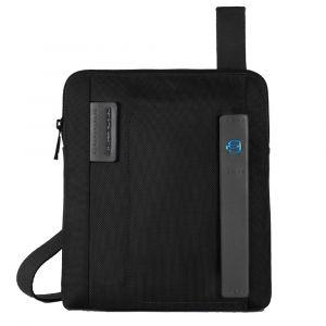 Borsello a Tracolla con Porta iPad®Air/Air2 - PIQUADRO Pulse CA1358P16 in Tessuto e Pelle Nero