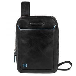Borsello Uomo Porta iPad Mini - PIQUADRO linea Blue Square CA3084B2 in Pelle Nera