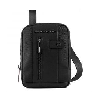 Borsello Uomo Porta iPad Mini - PIQUADRO linea Brief 2 CA3084BR2 in Tessuto e Pelle Colore Nero