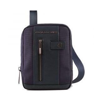 Borsello Uomo Porta iPad Mini - PIQUADRO linea Brief 2 CA3084BR2 in Tessuto e Pelle Blu