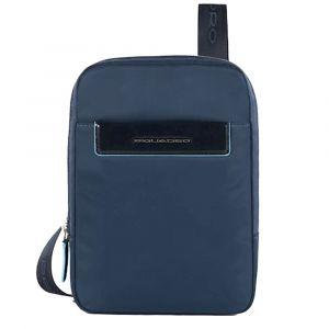 Borsello Organizzato Porta iPad Mini - PIQUADRO CA3084CE in Tessuto Blu