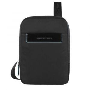 Borsello Organizzato Porta iPad Mini - PIQUADRO CA3084CE in Tessuto Nero
