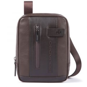 Borsello Piquadro a Tracolla in Pelle Marrone con Porta iPad®mini - CA3084UB00 Linea Urban