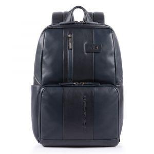 """PIQUADRO Zaino in Pelle Blu  Porta Pc 14"""" e Porta iPad - CA3214UB00 linea Urban"""
