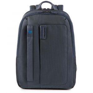 """Zaino PIQUADRO Porta Pc 14"""" e Tablet - CA3869P16 in Tessuto Colore Chevron - Blu"""