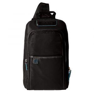 """Monospalla Porta iPad®Air/Pro 9,7"""" PIQUADRO in Tessuto Tecnico Nero linea Celion CA4178CE"""