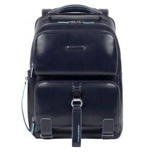 """Zaino Fast-Check Porta Pc 14"""" - PIQUADRO linea Blue Square in Pelle Blu CA4894B2"""